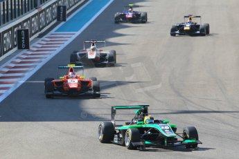 World © Octane Photographic Ltd. Sunday 23rd November 2014. GP3 Race 2 – Abu Dhabi GP - Yas Marina Circuit, United Arab Emirates. Formation lap. Digital Ref :