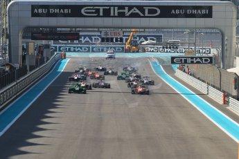 World © Octane Photographic Ltd. Sunday 23rd November 2014. GP3 Race 2 – Abu Dhabi GP - Yas Marina Circuit, United Arab Emirates. Race start. Digital Ref :