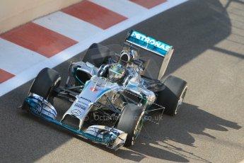 World © Octane Photographic Ltd. Tuesday 25th November 2014. Abu Dhabi Testing - Yas Marina Circuit. Mercedes AMG Petronas F1 W05 Hybrid – Nico Rosberg. Digital Ref: 1174CB1D8065