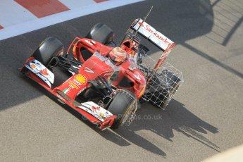 World © Octane Photographic Ltd. Tuesday 25th November 2014. Abu Dhabi Testing - Yas Marina Circuit. Scuderia Ferrari F14T - Kimi Raikkonen. Digital Ref: 1174CB1D8097
