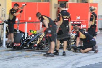 World © Octane Photographic Ltd. Tuesday 25th November 2014. Abu Dhabi Testing - Yas Marina Circuit. Lotus F1 Team E22 – Charles Pic. Digital Ref: 1174CB1D8245