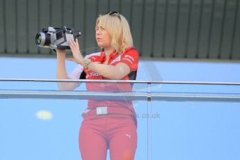 World © Octane Photographic Ltd. Tuesday 25th November 2014. Abu Dhabi Testing - Yas Marina Circuit. Scuderia Ferrari personnel with thermal camera. Digital Ref: 1174CB1D8248