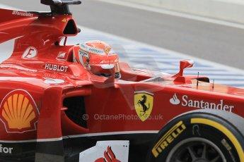World © Octane Photographic Ltd. Tuesday 25th November 2014. Abu Dhabi Testing - Yas Marina Circuit. Scuderia Ferrari F14T - Kimi Raikkonen. Digital Ref: 1174CB1D8381