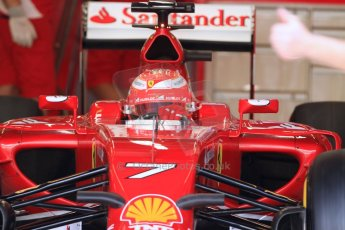 World © Octane Photographic Ltd. Tuesday 25th November 2014. Abu Dhabi Testing - Yas Marina Circuit. Scuderia Ferrari F14T - Kimi Raikkonen. Digital Ref: 1174CB7D8657