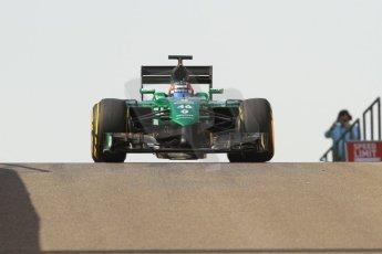 World © Octane Photographic Ltd. Tuesday 25th November 2014. Abu Dhabi Formula 1 Testing - Yas Marina Circuit. Caterham F1 Team CT05 – William Stevens. Digital Ref: 1174CB7D8691