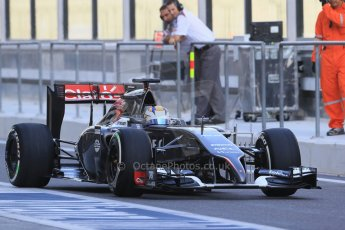 World © Octane Photographic Ltd. Tuesday 25th November 2014. Abu Dhabi Testing - Yas Marina Circuit. Sauber C33 – Marcus Ericsson. Digital Ref: 1174LB1D7774