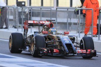 World © Octane Photographic Ltd. Tuesday 25th November 2014. Abu Dhabi Testing - Yas Marina Circuit. Lotus F1 Team E22 – Charles Pic. Digital Ref: 1174LB1D7806