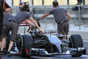 World © Octane Photographic Ltd. Tuesday 25th November 2014. Abu Dhabi Testing - Yas Marina Circuit. Sauber C33 – Marcus Ericsson. Digital Ref: 1174LB1D7860