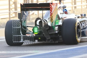 World © Octane Photographic Ltd. Tuesday 25th November 2014. Abu Dhabi Testing - Yas Marina Circuit. Sahara Force India VJM07 – Jolyon Palmer. Rear wing Digital Ref : 1174LB1D7904