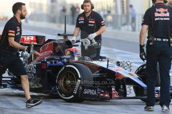 World © Octane Photographic Ltd. Tuesday 25th November 2014. Abu Dhabi Testing - Yas Marina Circuit. Scuderia Toro Rosso STR9 – Max Verstappen. Digital Ref: 1174LB1D7939