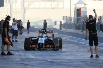 World © Octane Photographic Ltd. Tuesday 25th November 2014. Abu Dhabi Testing - Yas Marina Circuit. Sahara Force India VJM07 – Jolyon Palmer. Digital Ref : 1174LB1D7943