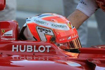 World © Octane Photographic Ltd. Tuesday 25th November 2014. Abu Dhabi Testing - Yas Marina Circuit. Scuderia Ferrari F14T - Kimi Raikkonen. Digital Ref: 1174LB1D8111