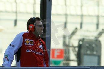 World © Octane Photographic Ltd. Tuesday 25th November 2014. Abu Dhabi Testing - Yas Marina Circuit. Scuderia Ferrari - Aerodynamics Team Leader - Marco Fusacchia. Digital Ref: 1174LB1D8117