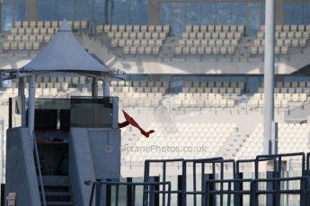 World © Octane Photographic Ltd. Tuesday 25th November 2014. Abu Dhabi Testing - Yas Marina Circuit. Red flag. Digital Ref: 1174LB1D8129
