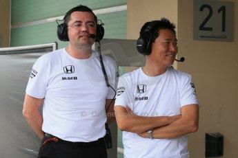 World © Octane Photographic Ltd. Tuesday 25th November 2014. Abu Dhabi Testing - Yas Marina Circuit. McLaren Honda - Eric Boullier. Digital Ref: 1174LB1D8290