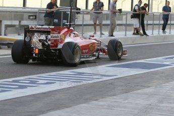 World © Octane Photographic Ltd. Tuesday 25th November 2014. Abu Dhabi Testing - Yas Marina Circuit. Scuderia Ferrari F14T - Kimi Raikkonen. Digital Ref: 1174LB7L9590