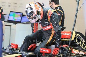 World © Octane Photographic Ltd. Wednesday 26th November 2014. Abu Dhabi Testing - Yas Marina Circuit. Lotus F1 Team E22 – Esteban Ocon. Digital Ref: 1175CB1D8625