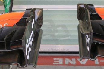 World © Octane Photographic Ltd. Wednesday 26th November 2014. Abu Dhabi Testing - Yas Marina Circuit. Sahara Force India VJM07 alternate front wing endplates. Digital Ref: 1175CB1D8785