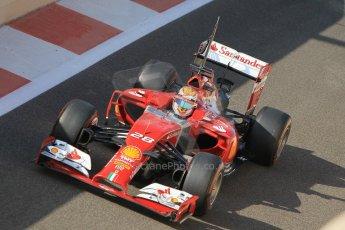 World © Octane Photographic Ltd. Wednesday 26th November 2014. Abu Dhabi Testing - Yas Marina Circuit. Scuderia Ferrari F14T – Raffaele Marciello. Digital Ref: 1175CB1D8895