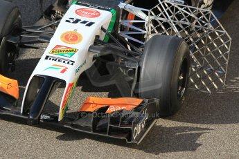 World © Octane Photographic Ltd. Wednesday 26th November 2014. Abu Dhabi Testing - Yas Marina Circuit. Sahara Force India VJM07 front wing. Digital Ref: 1175CB1D8905