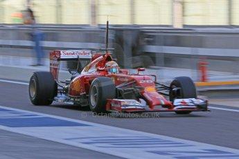 World © Octane Photographic Ltd. Wednesday 26th November 2014. Abu Dhabi Testing - Yas Marina Circuit. Scuderia Ferrari F14T – Raffaele Marciello. Digital Ref: 1175CB1D9059