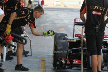 World © Octane Photographic Ltd. Wednesday 26th November 2014. Abu Dhabi Testing - Yas Marina Circuit. Lotus F1 Team E22 – Esteban Ocon. Digital Ref: 1175CB1D9142