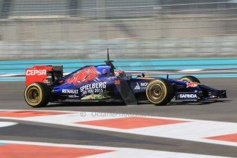 World © Octane Photographic Ltd. Wednesday 26th November 2014. Abu Dhabi Testing - Yas Marina Circuit. Scuderia Toro Rosso STR 9 – Max Verstappen. Digital Ref: 1175CB1D9163