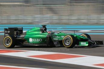 World © Octane Photographic Ltd. Wednesday 26th November 2014. Abu Dhabi Testing - Yas Marina Circuit. Caterham F1 Team CT05 – William Stevens. Digital Ref: 1175CB1D9167