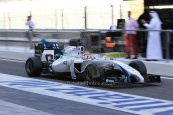 World © Octane Photographic Ltd. Wednesday 26th November 2014. Abu Dhabi Testing - Yas Marina Circuit. Williams Racing FW36 – Felipe Nasr. Digital Ref: 1175CB1D9252