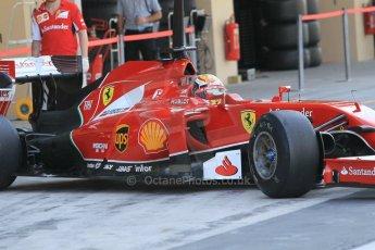 World © Octane Photographic Ltd. Wednesday 26th November 2014. Abu Dhabi Testing - Yas Marina Circuit. Scuderia Ferrari F14T – Raffaele Marciello. Digital Ref: 1175CB1D9466