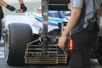 World © Octane Photographic Ltd. Wednesday 26th November 2014. Abu Dhabi Testing - Yas Marina Circuit. Williams Racing FW36 aero test rig. Digital Ref: 1175CB1D9493