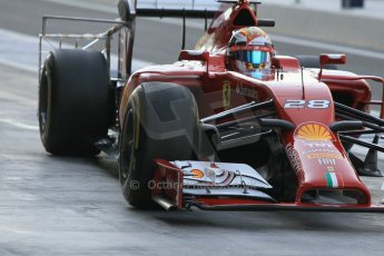World © Octane Photographic Ltd. Wednesday 26th November 2014. Abu Dhabi Testing - Yas Marina Circuit. Scuderia Ferrari F14T – Raffaele Marciello. Digital Ref: 1175CB1D9555