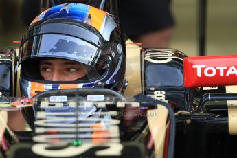 World © Octane Photographic Ltd. Wednesday 26th November 2014. Abu Dhabi Testing - Yas Marina Circuit. Lotus F1 Team E22 – Alex Lynn. Digital Ref: 1175CB7D8874