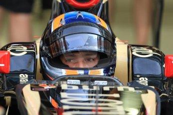 World © Octane Photographic Ltd. Wednesday 26th November 2014. Abu Dhabi Testing - Yas Marina Circuit. Lotus F1 Team E22 – Alex Lynn. Digital Ref: 1175CB7D8887