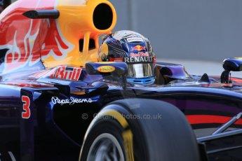World © Octane Photographic Ltd. Wednesday 26th  November 2014. Abu Dhabi Testing - Yas Marina Circuit. Infiniti Red Bull Racing RB10 – Daniel Ricciardo. Digital Ref: 1175LB1D8449