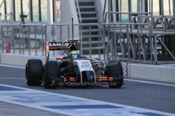 World © Octane Photographic Ltd. Wednesday 26th  November 2014. Abu Dhabi Testing - Yas Marina Circuit. Sahara Force India VJM07 – Spike Goddard. Digital Ref: 1175LB1D8541