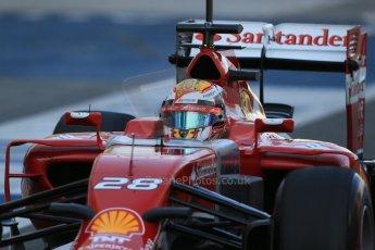 World © Octane Photographic Ltd. Wednesday 26th  November 2014. Abu Dhabi Testing - Yas Marina Circuit. Scuderia Ferrari F14T – Raffaele Marciello. Digital Ref: 1175LB1D8619