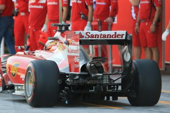 World © Octane Photographic Ltd. Wednesday 26th  November 2014. Abu Dhabi Testing - Yas Marina Circuit. Scuderia Ferrari F14T – Raffaele Marciello. Digital Ref: 1175LB1D8622