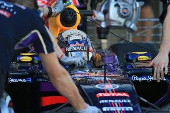 World © Octane Photographic Ltd. Wednesday 26th  November 2014. Abu Dhabi Testing - Yas Marina Circuit. Infiniti Red Bull Racing RB10 – Daniel Ricciardo. Digital Ref: 1175LB1D8746