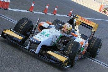World © Octane Photographic Ltd. Thursday 27th November 2014. GP2 Testing - Yas Marina, United Arab Emirates. Daniel Abt - Hilmer Motorsport. Digital Ref: