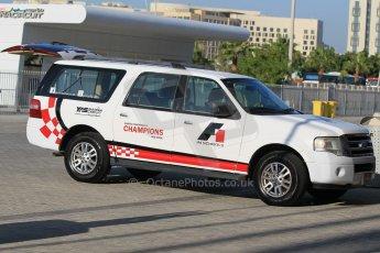 World © Octane Photographic Ltd. Thursday 27th November 2014. GP3 Testing - Yas Marina, United Arab Emirates. F1 In Schools car. Digital Ref :