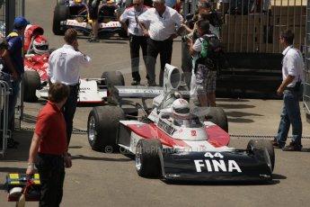 World © Octane Photographic Ltd. Sunday 22nd June 2014. Red Bull Ring, Spielberg – Austria, Formula 1 Legends. Dieter Quester. - Surtees TS16. Digital Ref: 1003LB1D1691