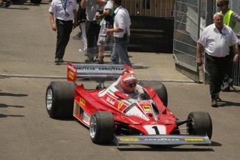 World © Octane Photographic Ltd. Sunday 22nd June 2014. Red Bull Ring, Spielberg – Austria, Formula 1 Legends. Niki Lauda - Ferrari 321T2. Digital Ref: 1003LB1D1710