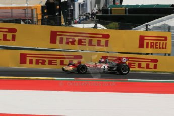 World © Octane Photographic Ltd. Sunday 22nd June 2014. Red Bull Ring, Spielberg – Austria - Formula 1 Legends. Gerhard Berger - Lotus 49. Digital Ref: 1003LB1D4618