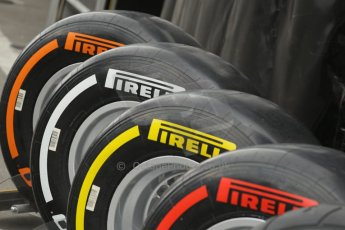 World © Octane Photographic Ltd. Saturday 21st June 2014. Red Bull Ring, Spielberg - Austria - Formula 1 Practice 3. Pirelli tyre range. Digital Ref: 0995LB1D1427