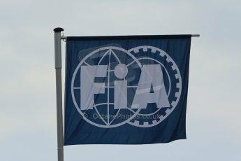 World © Octane Photographic Ltd. Saturday 21st June 2014. Red Bull Ring, Spielberg - Austria - Formula 1 Practice 3. FIA flag. Digital Ref: 0995LB1D1424