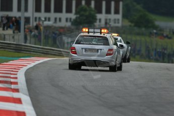 World © Octane Photographic Ltd. Friday 20th June 2014. Red Bull Ring, Spielberg - Austria - Formula 1 Practice 1. Safety Car and Medical Car. Digital Ref: 0991LB1D9328