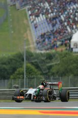 World © Octane Photographic Ltd. Friday 20th June 2014. Red Bull Ring, Spielberg - Austria - Formula 1 Practice 1.  Sahara Force India VJM07 – Sergio Perez. Digital Ref: 0991LB1D9561