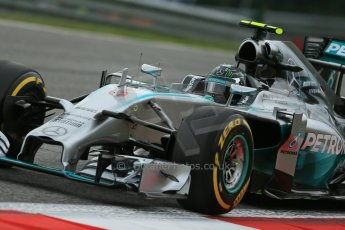World © Octane Photographic Ltd. Friday 20th June 2014. Red Bull Ring, Spielberg - Austria - Formula 1 Practice 1.  Mercedes AMG Petronas F1 W05 Hybrid - Nico Rosberg. Digital Ref: 0991LB1D9936