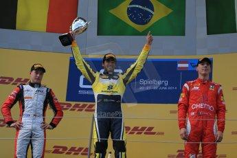 World © Octane Photographic Ltd. Saturday 21st June 2014. GP2 Race 1 – Red Bull Ring, Spielberg - Austria. Felipe Nasr - Carlin, Stoffel Vandoorne - ART Grand Prix and Raffaele Marciello - Racing Engineering. Digital Ref : 0997LB1D3619